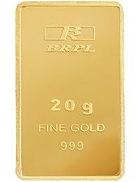 Bangalore Refinery 20 gm, 24k (999) Yellow Gold Bar