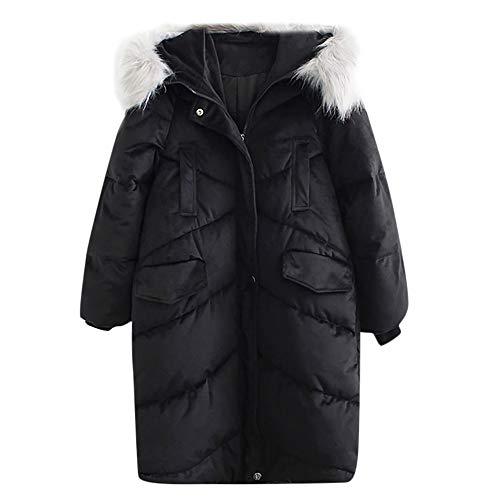Luckycat Frauen große Größe verlieren Taschenstickerei Stehkragen Dicke Baumwolle Jacke Jacken Mäntel Sweatjacke Winterjacke Fleecejacke ()
