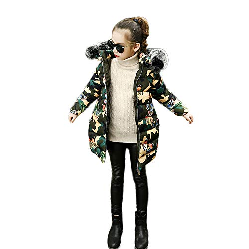 Kapuzenjacke,Transwen Kinder Mädchen Winter Warme Mäntel Jacke Kind Reißverschluss Dicke Hoodie Oberbekleidung Kleidung Trenchcoat Warm Wintermäntel (110, Mehrfarbig)