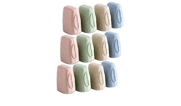 12 pezzi antibatterica 3,5 x 1,5 x 2 cm Custodia protettiva per spazzolino da denti anti-polvere KongJies