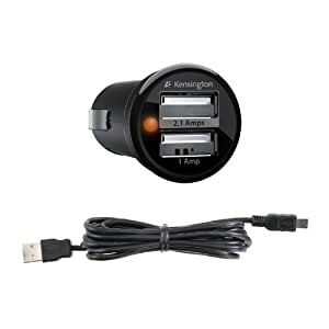 Kindle PowerBolt Duo USB Car Charger with USB Cable by Kensington