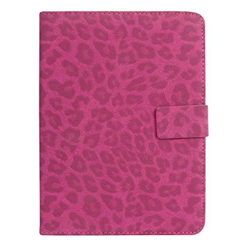 Emartbuy PU Leather Multi Angle Executive Folio Wallet Cover for Xiaomi Mi Pad 7.9  Size 7 8 Inch_Pink Leopard