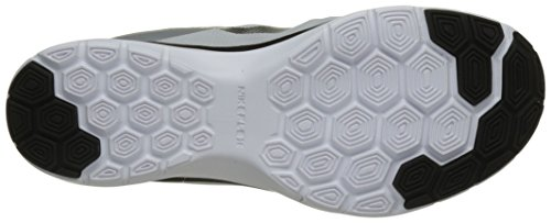 Nike Wmns Flex Trainer 6, Scarpe Indoor Multisport Donna Nero (White / Black / Metallic Platinum)