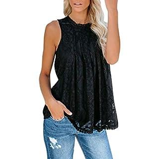 SCHOLIEBEN Tank Top Oberteile T Shirt Sexy Damen Sommer Spitze Schwarz Weiß Elegant Elegante Trägerloses Ärmellos Schöne Frauen Shirt