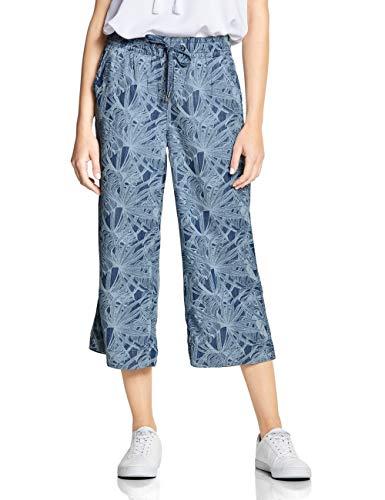 CECIL Damen 372281 Hose per pack Mehrfarbig (printed flower used wash 10536), W0.Keine Angabe(Herstellergröße:XL) (Leg Wide Pants Printed)