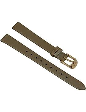 Ersatzband Uhrenarmband Lederband Damen Beige 12mm passend zu Timex T2P313 T2P314