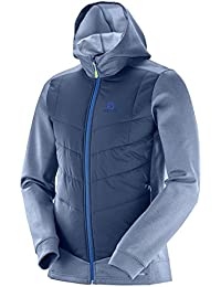 SALOMON PULSE HYBRID HOODIE M - Sudadera , Hombre , Azul - (Dress Blue)