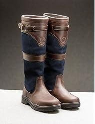 Mountain Horse Devonshire–Botas de Piel impermeable para mujer, color marrón oscuro, color azul marino, tamaño 41