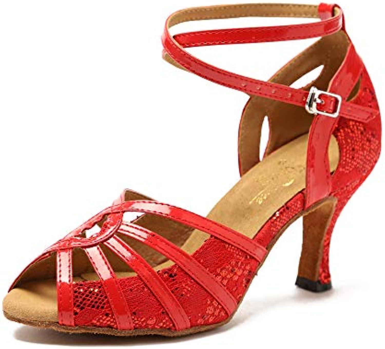 Scarpe Da Ballo Latino Per Donna Salsa/Tango / Chacha/Samba / Blti,RedHeeled7.5cm-UK2.5... Moderno/Jazz Scarpe Sandali Tacchi Blti,RedHeeled7.5cm-UK2.5... / Parent 9cc640