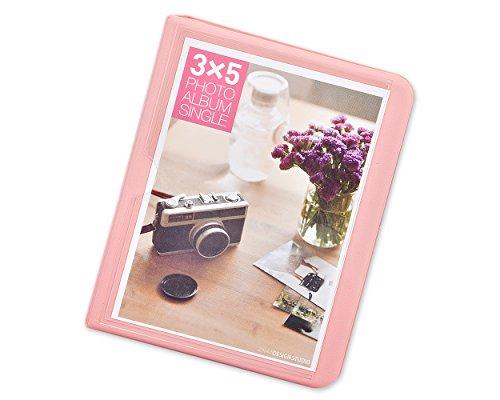 2 Pockets Foto Buch Mini Album Buch für Fujifilm Instax Wide 300, Wide 210, Wide 200 Fotos - Babyrosa (Polaroid Instax Wide Film)