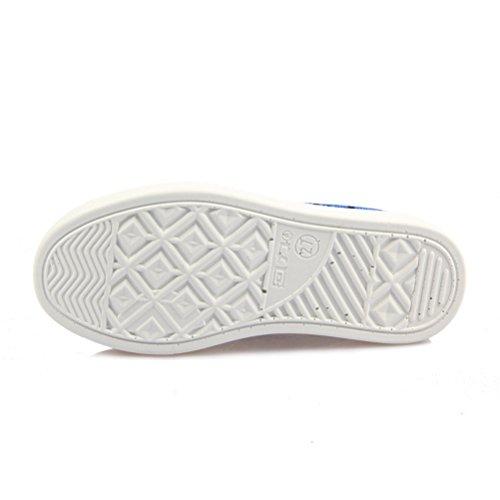 On Jungen Sneakers Plateau Kinder Slip Runde Blau Atmungsaktive Unisex Zehen L盲ssige M盲dchen f8SnaxnCwq