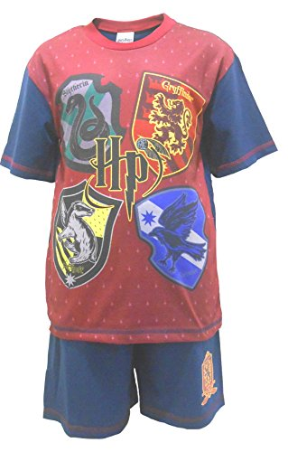 Boys Pyjamas Official Harry Potter HP Team Hogwarts Shorty PJ's Sizes from 5 to 12 Years