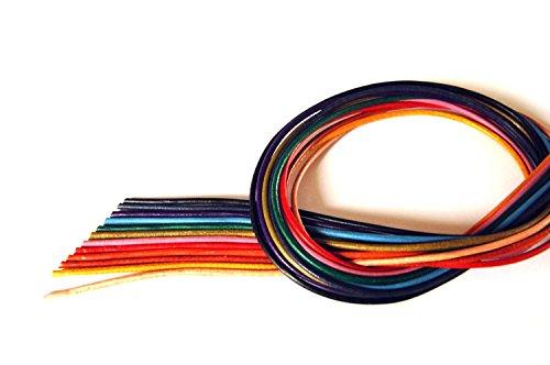 Preisvergleich Produktbild 12 St. Lederbänder Ziegenleder, bunt, 1,5 mm x 100 cm