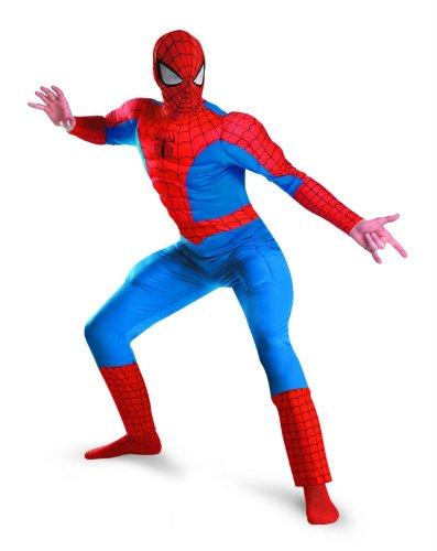 (Spider-Man Muscle Erwachsene Halloween-Kostüm)