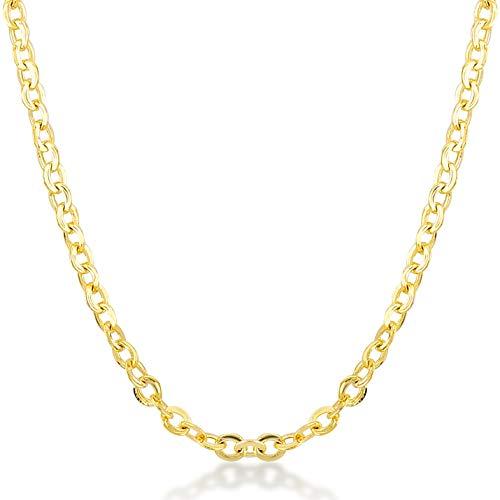 Gelin Gold Halskette 14 Karat - 585 Gelbgold Erbskette Gold - Breite 1.00 mm - 1.10 Gr - Länge 45cm, 585er Gold