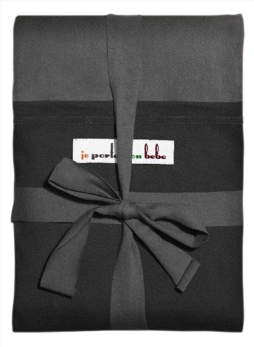Je Porte Mon Bébé Echarpe de Portage L'Originale Anthracite poche Noire