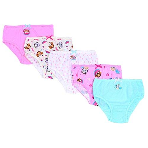 5 x Pastel farbende Schlüpfer von PAW Patrol - 2-3 Jahre 98 cm (Nickelodeon Mädchen Unterwäsche)