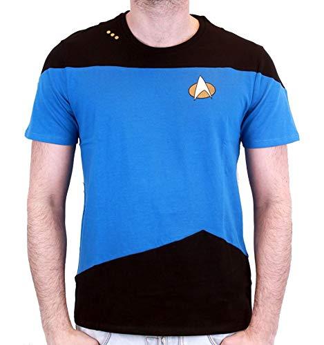 STAR TREK - T-Shirt NEXT GENERATION Blue Uniform (M) : TShirt , ML