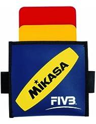 Mikasa - Tarjetas de árbitro, color rojo y amarillo