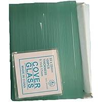 Portaobjetos de microscopio en blanco 50PCS y cubierta de vidrio cuadrada de 7101 100PCS
