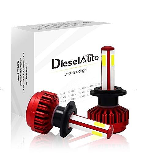 Diesel AutoZone H7 Phare LED Ampoules Kit de Conversion COB Chips 8000LM  80W 6000K Lampes Blanc Ampoules- 1 ans de garantie, Lot de 2