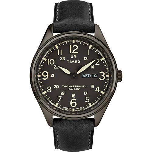 Timex Herren Analog Quarz Uhr mit Leder Armband TW2R89100