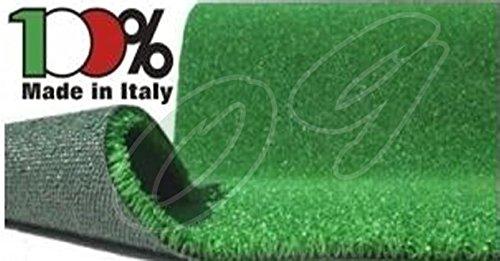 Manto/Prato sintetico/Tappeto in erba sintetica per giardino terrazzo 2 x 5m