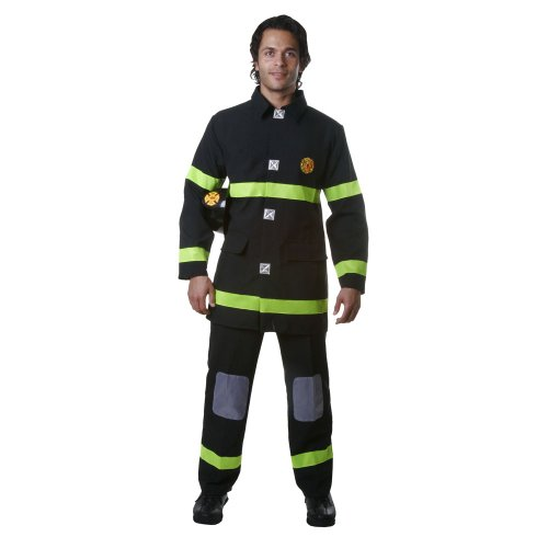 Dress Up America Erwachsene Schwarz Fire Fighter Kostüm