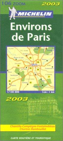 Carte routière : Environs de Paris, N° 11106