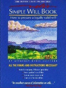 Simple Will Book; How to prepare a legally valid will by Attorney D Clifford (1989-09-02)