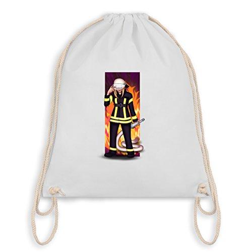 Feuerwehr - Coole Feuerwehrfrau - Unisize - Weiß - WM110 - Turnbeutel I Gym Bag