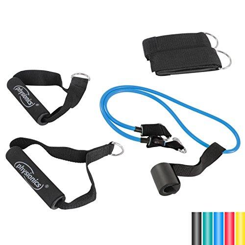Physionics Schlingentrainer mit Türanker - in verschiedenen Gewichtsklassen (4,5 kg/6,8 kg/9,1 kg/11,3 kg) - Zugseil Elastisches, Sports Expander, Fitness Expander Set
