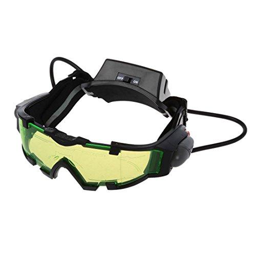 2b73a71edc SODIAL(R) Gafas de vision nocturna con azul flip-fuera llevaron luces,