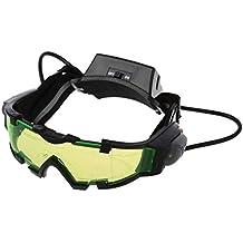SODIAL(R) Gafas de vision nocturna con azul flip-fuera llevaron luces,Night Vision Goggles