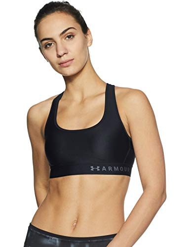 Under Armour Damen Mid Crossback Sport Bra, Black, S - Trainer-bh