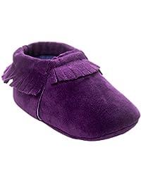 BOBORA Chaussures Bebe en Cuir Souple, Chaussons Bebe Filles Garcons  Premiers Pas pour 0- 7dd087913a1f