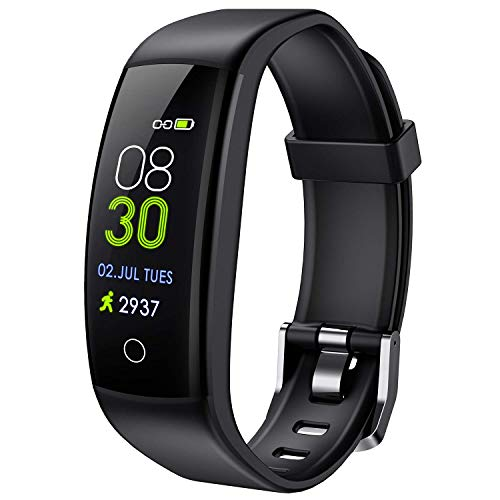 ELEGIANT Fitness Activity Tracker, Braccialetto Smartwatch Bluetooth Orologio Impermeabile IP67 per iPhone XS Max XR X 8s 7 iPad Samsung S10 S9+ Huawei P20 P30 PRO Mate HTC LG Donna Uomo Android iOS