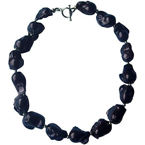Collana di perle, colore: marrone - Coltivate Collana Di Perle Keshi