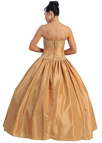 Nachtigall+Lerche NL567-MQ-Vestito da sposa Donna Gold