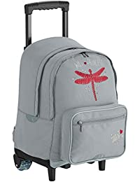 IKKS Cartable Dragonfly Trolley L, 51 cm, (Gris)