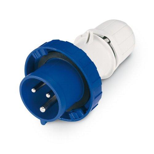 Scame 218.1633P Conector Eléctrico, 250 V, Azul