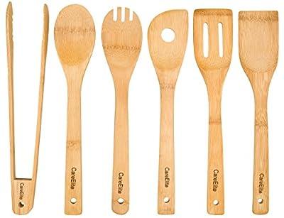 Nachhaltige Küchenutensilien / Küchenhelfer Set aus Bambus.
