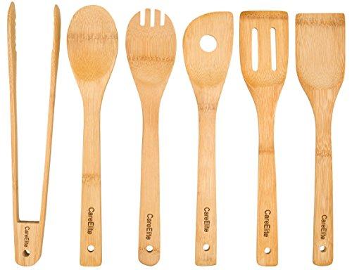 Set Utensili da cucina in legno di bambù ♻ sostenibile usato  Spedito ovunque in Italia
