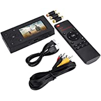 Video Recorder, 3 inch TFT Screen AV Recorder Portable Audio and Video Converter Support SD Card Real-time Video Capture Recording Player.