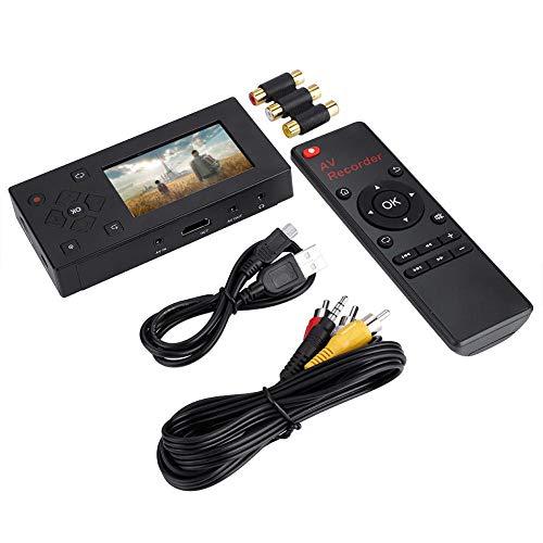 Grabador de Video, Duradero, liviano, 3 Pulgadas, USB 2.0, Pantalla TFT, Grabador AV, convertidor de Audio y Video, Captura de Video, Reproductor de grabación, Soporte, Tarjeta SD