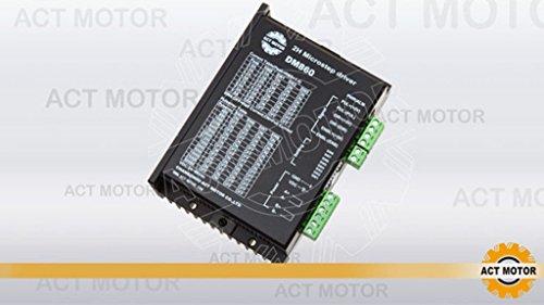 ACT Motor GmbH 1PC Stepper Motor Driver DM860 for Nema 34 & 42 24-80VDC 6A 256 Microsteps Milling Plasma Automation CNC Router Grind Robot Dispenser