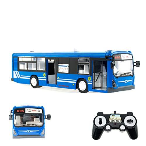 efaso RC Bus E635-003 1:32 2,4GHz realistischer Stadtbus mit Licht, Sound, Hupe und beweglichen Türen in BLAU