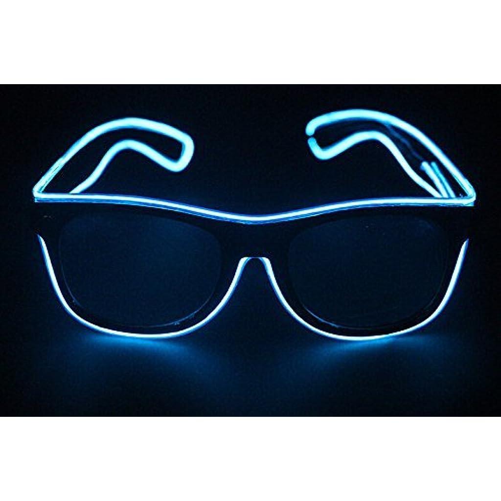 5bf4879ca2 Gafas de Sol Luminosas LED, Gafas de Sol Brillantes, Gafas de Alambre EL,  Gafas de Sol con luz LED para Halloween, Navidad, Fiesta de cumpleaños,  Regalo, ...