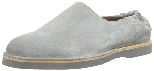 Shabbies Amsterdam lowshoe matching Norfolk flat sole, Mocassins femme Gris (Grigio 633)