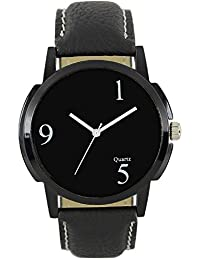 Briota Gents Analog Watch Black Leather Strap Premium Quality Watches For Boys